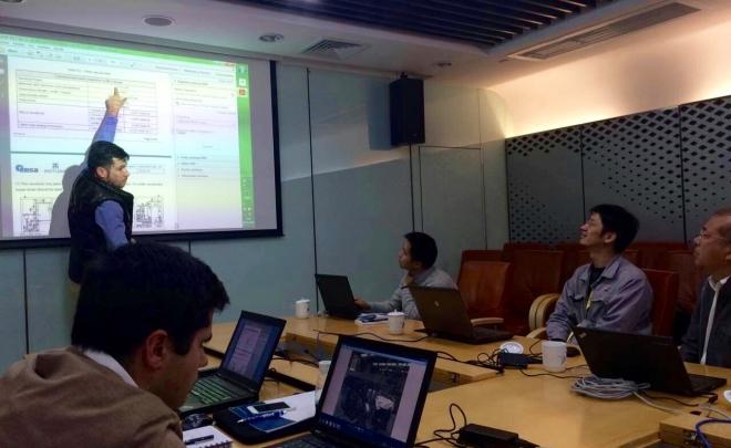 Ensa experts visit the facilities of Daya Bay Nuclear Power Plant